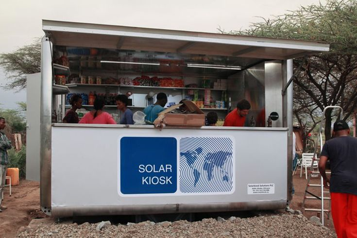 world's first solarkiosk by graft architects opens in ethiopia