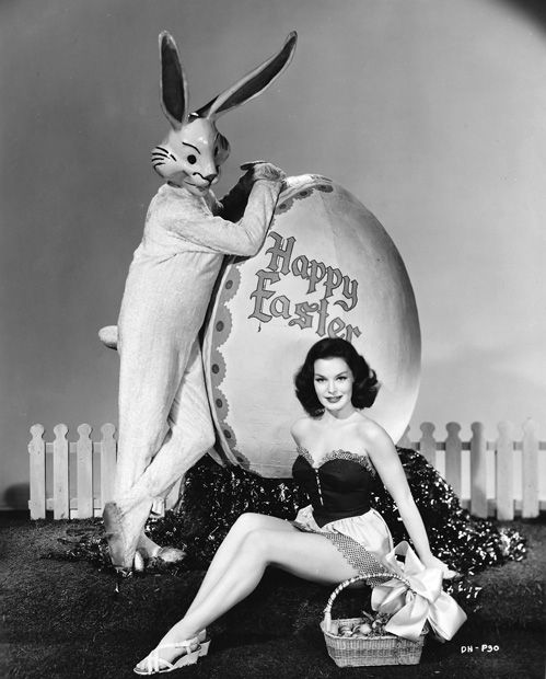 Dorothy Hart and Bunny with Easter Greetings [1949]
