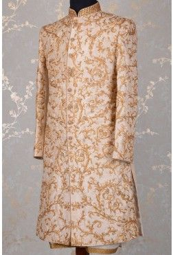 Wedding Sherwani-Dusty Pink-Zari Work-SH287