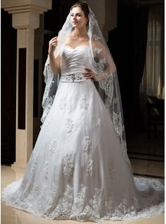 Wedding Veils - $39.99 - One-tier Chapel Bridal Veils With Lace Applique Edge http://www.dressfirst.com/One-Tier-Chapel-Bridal-Veils-With-Lace-Applique-Edge-006034317-g34317