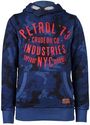 Petrol hooded sweater capri blue