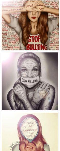 Stop Bullying - Kristina Webb drawings