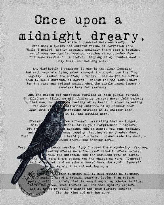 the poem of edgar allen poe the raven essay The philosophy of composition is an 1846 essay written by american writer edgar allan poe that elucidates a theory about how good poe uses the composition of his own poem the raven as an example the essay first appeared in the april edgar allan poe the philosophy of composition.