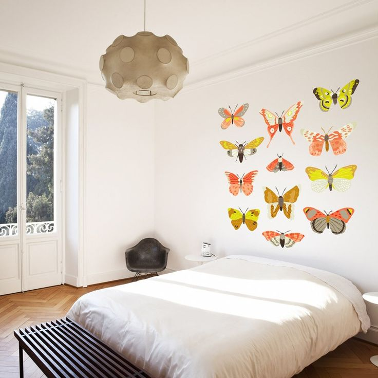 Moth Study   Coral  designer wall decals by Small Talk Studio for GreenBox  Art. 33 best ideas about Designer Wall Decals on Pinterest   Print