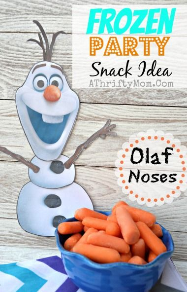 Frozen Party Ideas ~ Olaf Noses as a healthy snack idea #Frozen - A Thrifty Mom