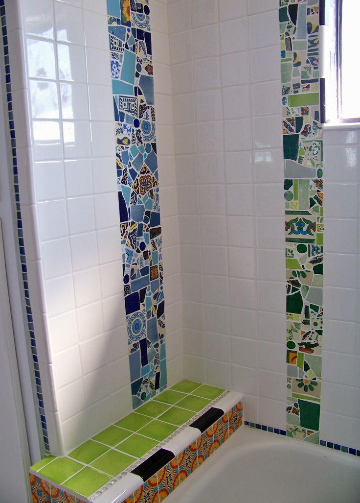 mosaic bathroom - artist natalie baca