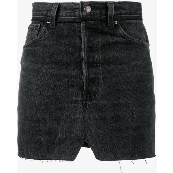 Vetements denim patchwork mini skirt ($1,150) ❤ liked on Polyvore featuring skirts, mini skirts, denim miniskirts, high-waist skirt, high waisted short skirts, short mini skirts and high waist skirt