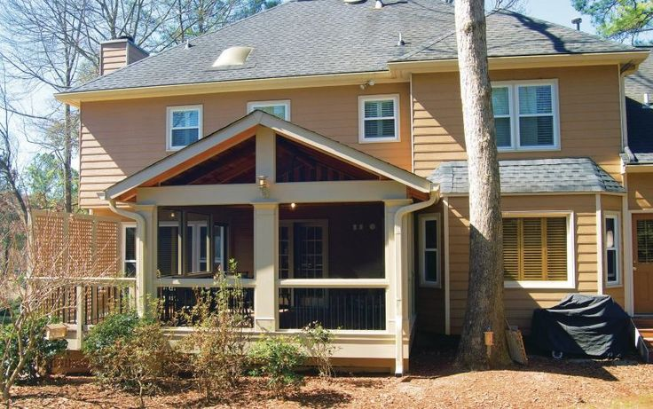 23 best images about backyard on pinterest porch roof for Gable roof addition