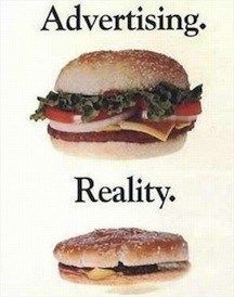 Why does it have to be smaller in real life?!? Fast Food Advertising Versus Reality • Page 3 of 6 • BoredBug