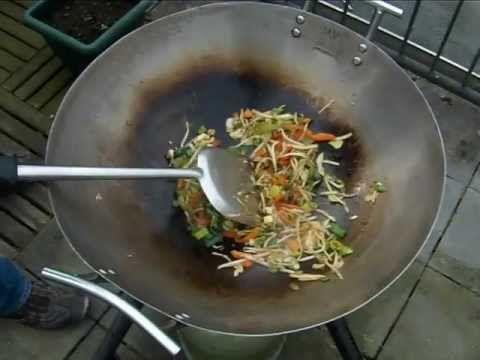 Gemarineerde garnalen met Chinese roerbak mix (1 pers.)