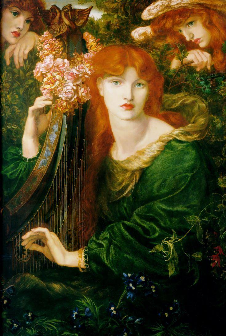 La Ghirlandata by Dante Gabriel Rossetti of the Pre-Raphaelite Brotherhood.