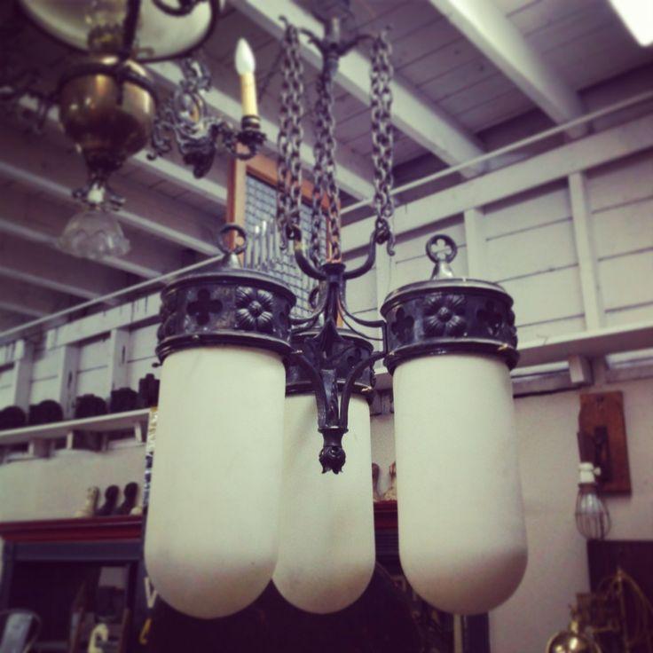 Gothic Arts + Crafts Hanging Light - early 20th century ~ #gothic #lighting #antique #home #decor *JoJo's Place www.jojosplace.com