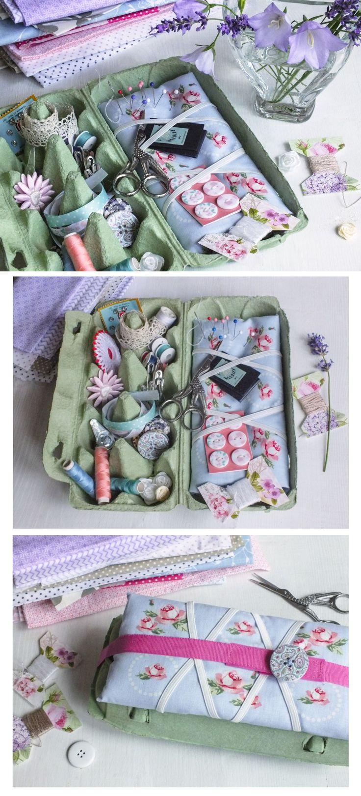Z obalu na vajíčka jsme vyrobili cestovní šití. Pokud neudělá radost vám, určitě máte ve svém okolí švadlenku, kterou by potěšilo. Návod na výrobu pro vás máme na blogu.