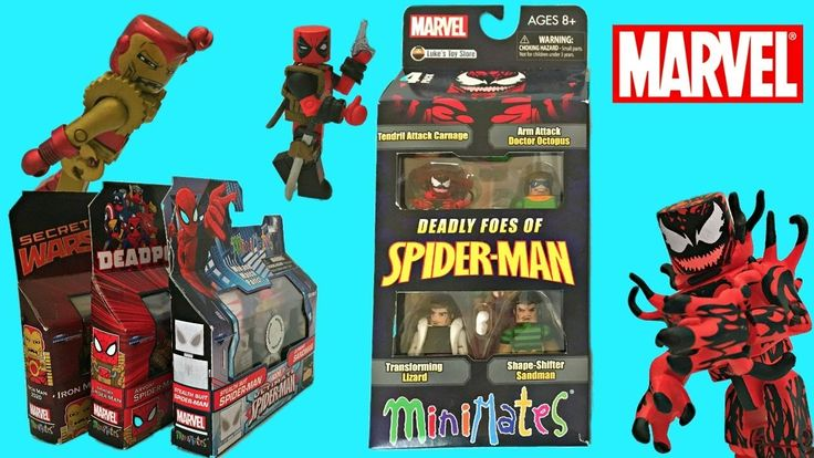 Spider-Man MiniMates Minifigures, Unboxing & Toy Review, Exclusive Pack,...