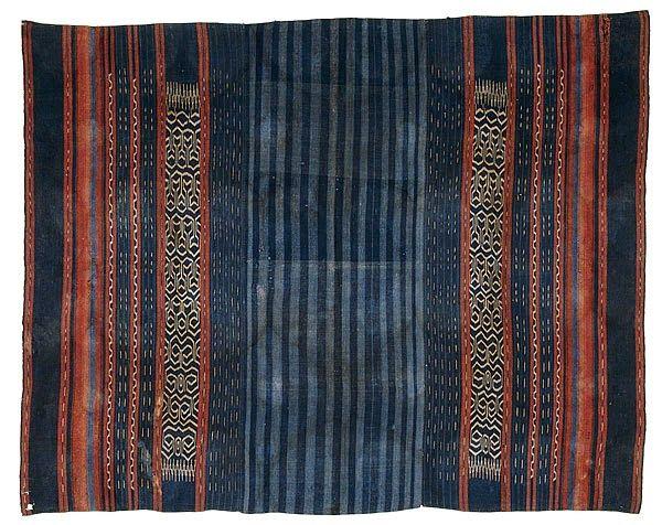 Toraja people: late 19th-early 20th century Rongkong district Sulawesi Indonesia; cotton, warp ikat