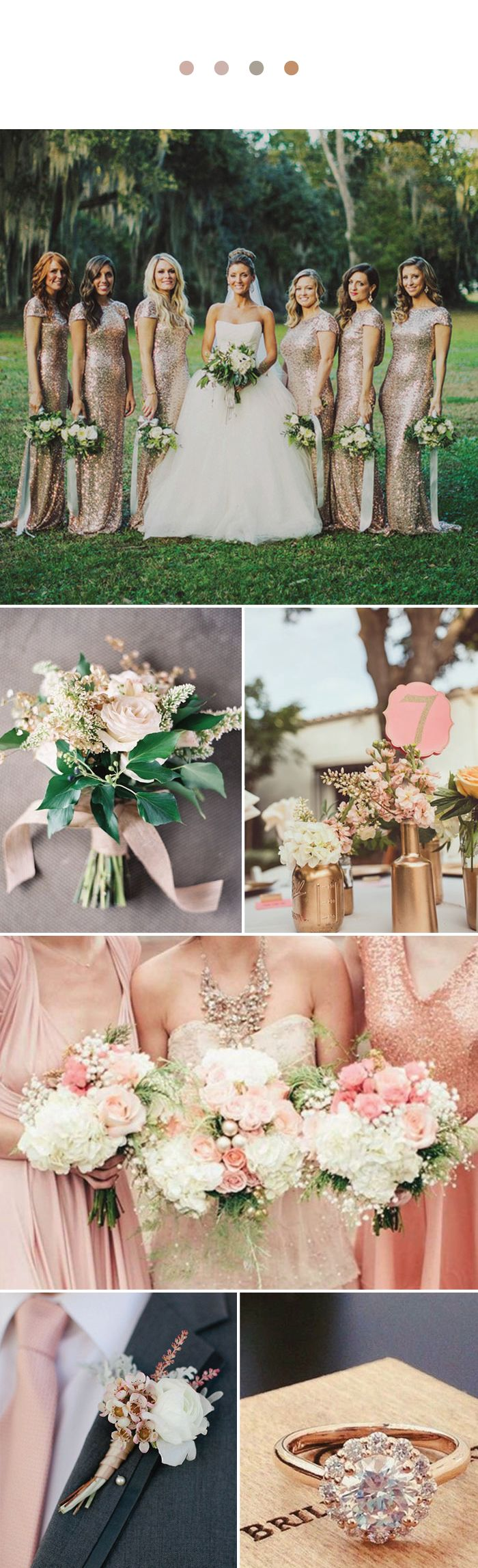 Rose Gold is a fairytale Wedding Color that's all grown up!