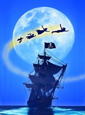 Peter Pan and Captain Hook's ship