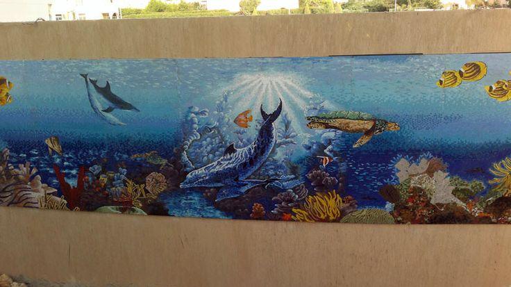 Mosaic aquarium.