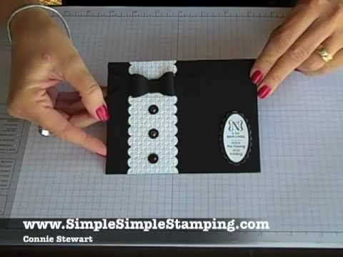 Simple Simple FLASH CARDS 2.0 - Tuxedo Wedding Card by Connie Stewart