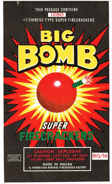 Big Bomb C5 80-16 Firecracker Brick Label by Mr Brick Label, via Flickr