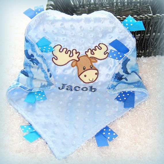 53 best personalized tag blankets images on pinterest jungles minky camo security blanket personalized moose lovey perfect hunting baby gift camo security blanket negle Image collections