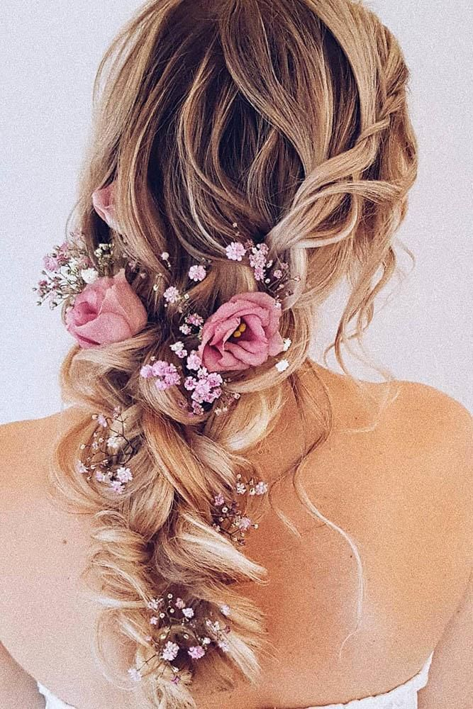 33 Wedding Hairstyles With Flowers Floral Crown Wedding Bridal