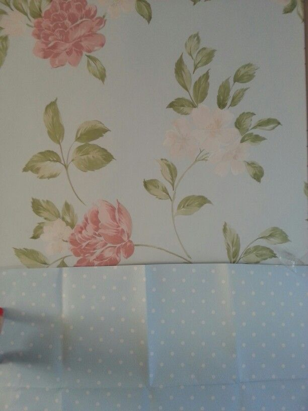 laura ashley wallpaper for chimney breast and bottom of walls