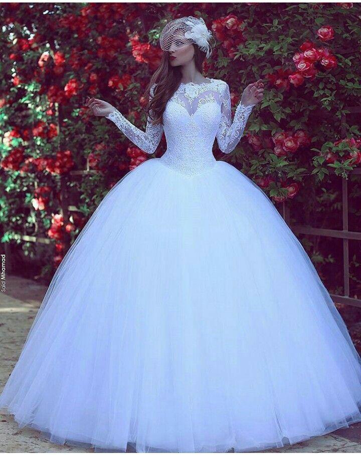 Hermoso vestido de novia corte princesa. #elegancia