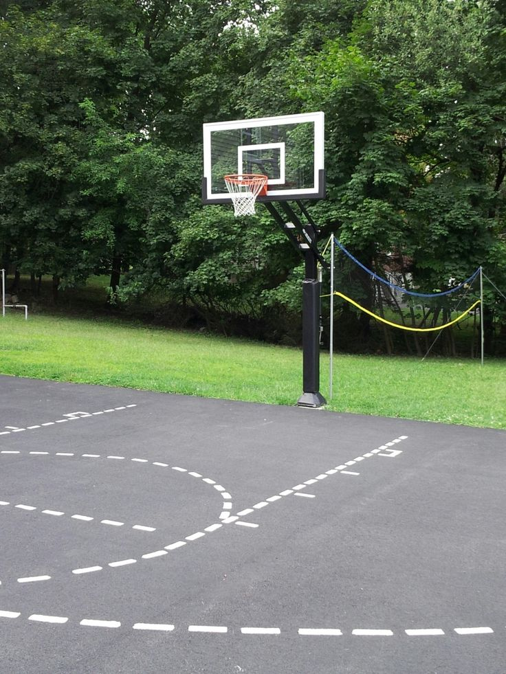58 best backyard basketball court images on pinterest for How many square feet is a basketball court