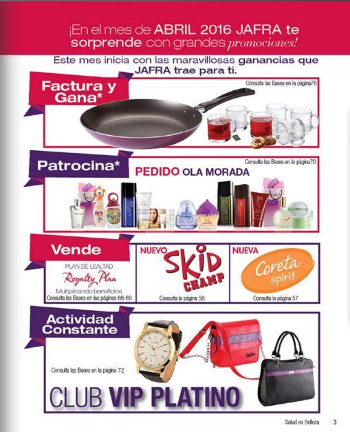 Promociones de Jafra para el mes de Abril 2016. Catalogo para Mexico