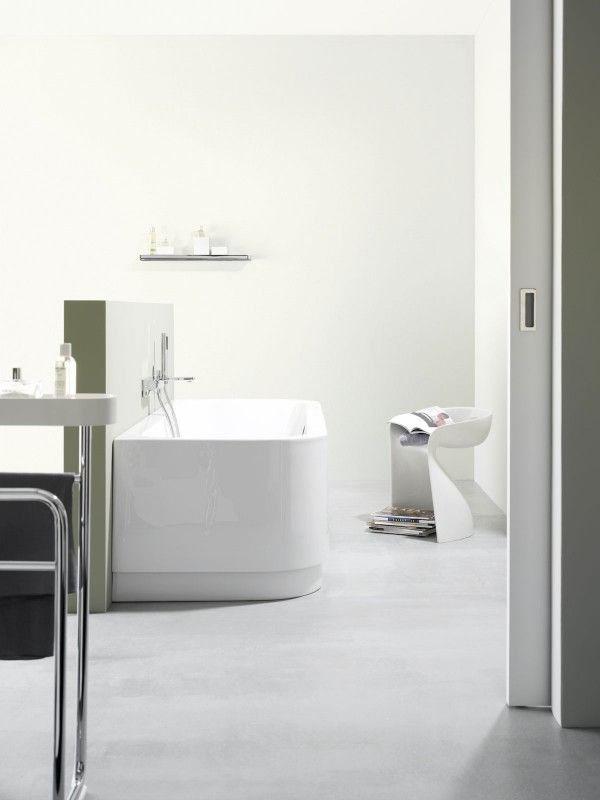 Website Picture Gallery Bathroom Luxurious Bathroom Interior A Masterpiece from Award Winning Dornbracht White Bathroom Interior with Large Bath Tub and Mini White Chair