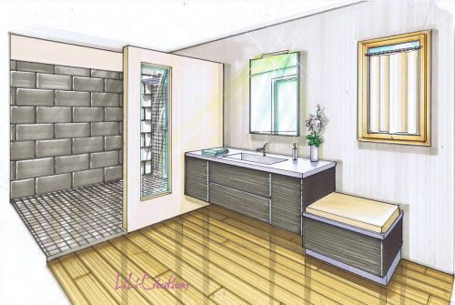 technique de dessin perspective croquis agencement. Black Bedroom Furniture Sets. Home Design Ideas