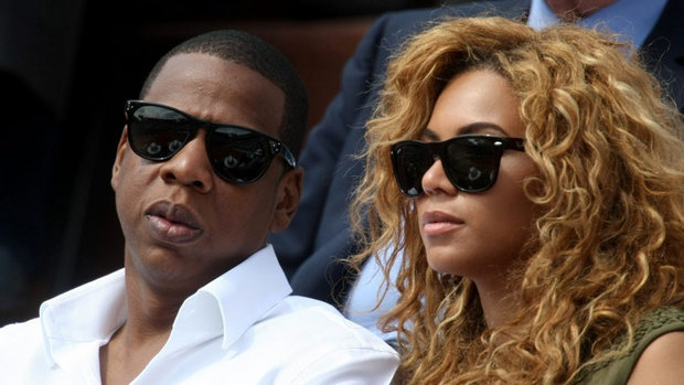 Rapper Jay-Z, seen at left with his wife Beyoncé, is among the celebrities whose financial or personal records were posted online.