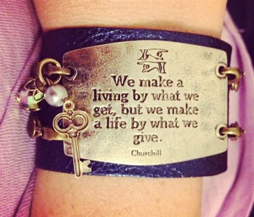 Wide cuff with sentiment and charms!