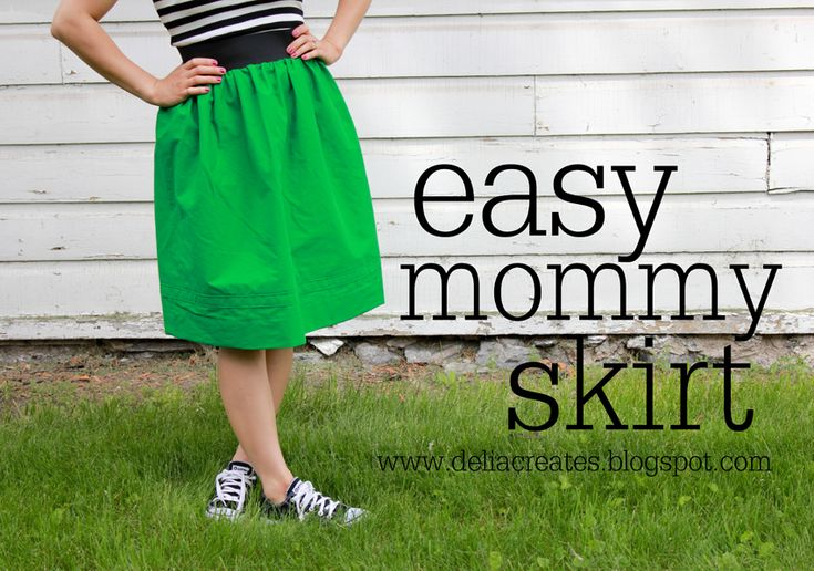 delia creates: Green: Easy Mommy Skirt