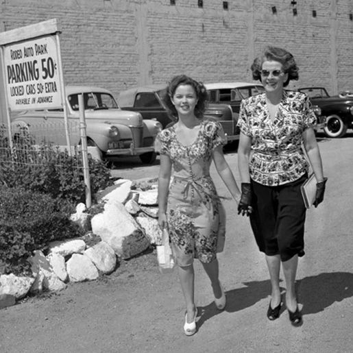 Shirley Temple and her Mother, Gertrude
