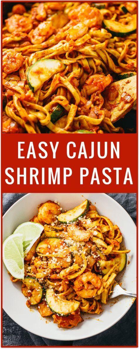 easy cajun shrimp pasta, spicy shrimp pasta, cajun chicken, cajun sausage pasta, creamy, simple, spaghetti, easy recipe, pasta dinner via @savory_tooth