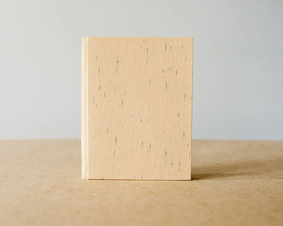 Small Beige Bookcloth with Blue Thread Hardcover Notebook
