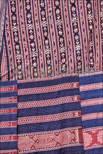 Indonesia, sawu (Seba) Island village, close-up of traditional ikat weavings