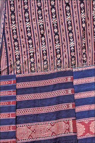 Indonesia, sawu (Seba) Island village, close-up of traditional ikat weavings