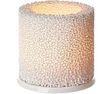Fire Candle holder 9 cm White