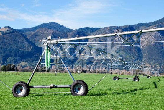 Irrigator in Rural New Zealand royalty-free stock photo