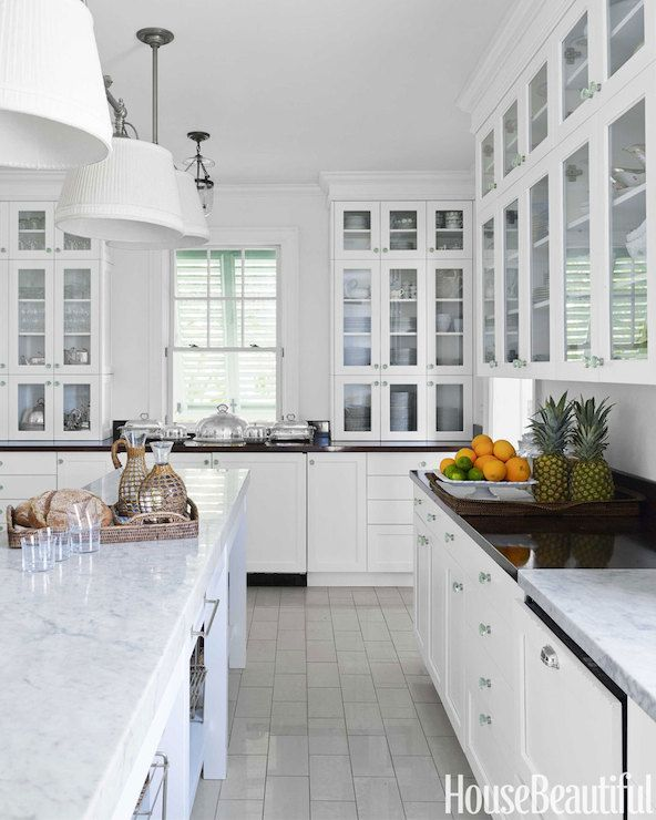 Traditional Home - kitchens - Benjamin Moore - White Dove