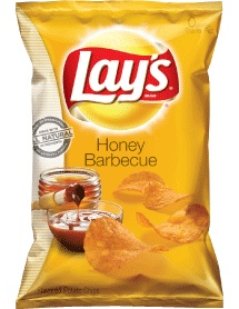 LAY'S® Honey Barbecue Flavored Potato Chips are gluten free