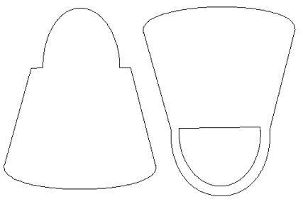 Free Purse Templates | Crafts by Carolyn - Free - Craft Robo GSD files - Handbag template