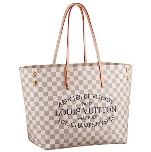 N41375 Louis Vuitton 2014 Damier Azur Canvas Cabas MM
