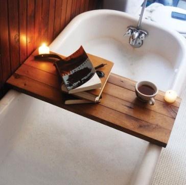 bath, coffee, candle, and book. I would never want to leave: Trays, Relaxing Bath, Idea, Bath Tubs, Bath Caddy, Bathtubs, Bubbles Bath, Good Books, Bath Time
