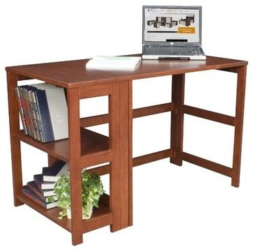 Flip-Flop Writing Desk and Bookcase modern home office products