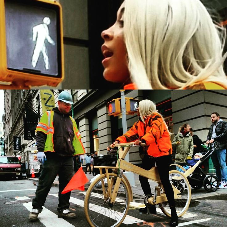 #raw #gut #emotion #woodenBicycle #Bicycle #constructionworker  #WeNYC #clothes #soho #style #RealNewYorker #fashion #graphic #NYSwagger #ThatsTheWayWeRollupinHere #ColorfulCharacter #streetstyle #OnlyinSoho #onlyinnewyork #SassyStrutter #SassyStyle #punks #neon #florescent #dayglow #tommytees #AManOfTheCloth #aNYthing