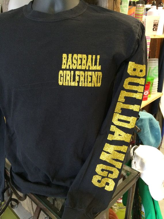 Baseball Girlfriend Long Sleeve with Mascot Name by TheShirtPlace